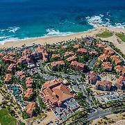 Aerial view of Sheraton Hacienda del Mar Los Cabos hotel. Baja California Sur, Mexico.