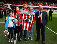 Shirt presentation during the English League One match at  Bramall Lane Stadium, Sheffield. Picture date: April 30th 2017. Pic credit should read: Simon Bellis/Sportimage