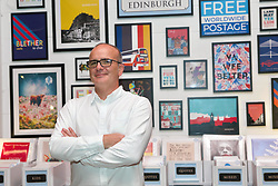 Bob Kirkpatrick, who co-owns the Wee Blue Coo posters and greetings card business, is among the first online retailers taking space at Amazon's pop-up Clicks and Mortar shop in Edinburgh. Pic copyright Terry Murden @edinburghelitemedia