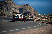 June 26-30 - Pikes Peak Colorado. Rod Millen runs his car during practice for the 91st running of the Pikes Peak Hill Climb.