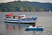 Polańczyk. 2012-09-15. Statek wycieczkowy na jeziorze solińskim