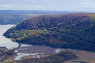 Bear Mountain, New York  - View of the Hudson Valley and Hudson River from the top of Bear Mountain at Bear Mountain State Park on Oct. 24, 2014.