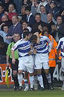 Photo: Olly Greenwood.<br />Queens Park Rangers v West Bromwich Albion. Coca Cola Championship. 31/03/2007. QPR's Dexter Blackstock celebrates scoring with Adam Bolder
