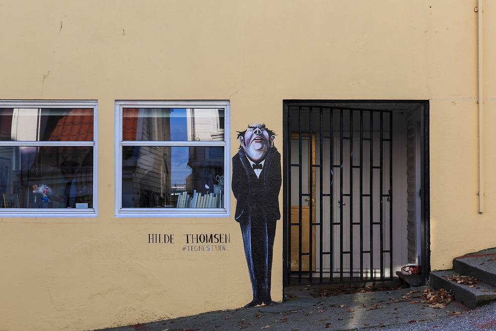 An Ilustration in Stavanger, Norway. Illustration is made by Hilde Thomsen.