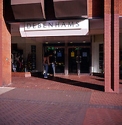 Entrance to Debenhams department store, Ipswich, Suffolk, England