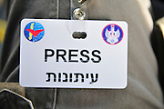 Israel, Tel Nof IAF Base, An Israeli Air force (IAF) exhibition Press badge