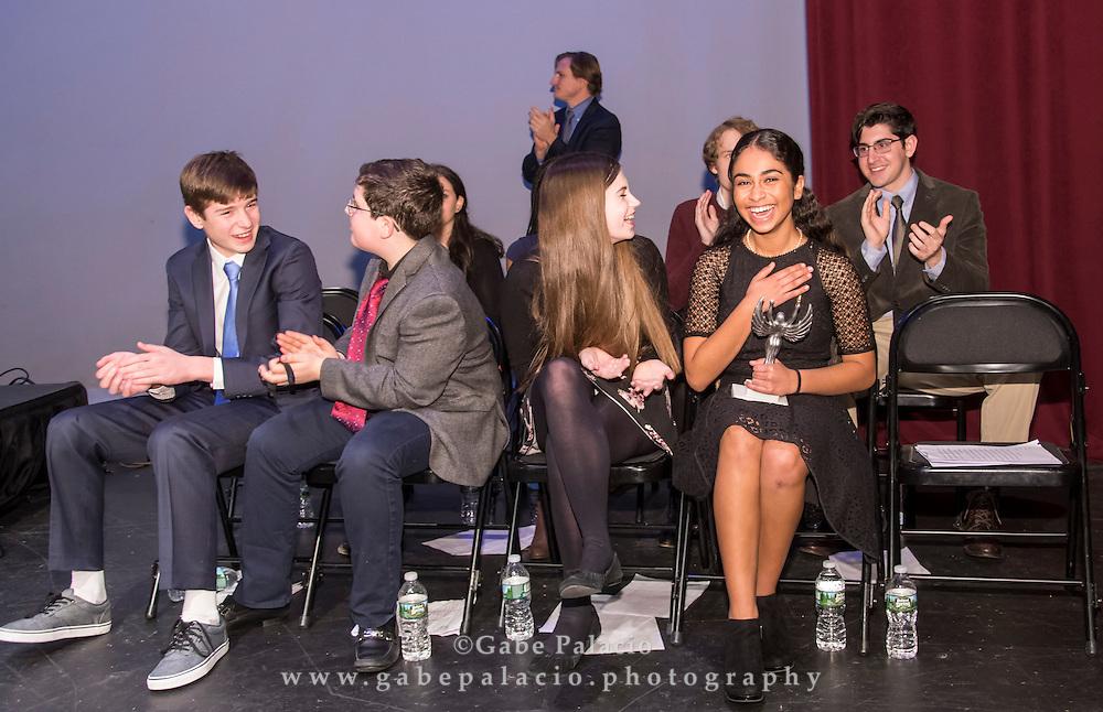 The Wells Speech Contest at the Harvey School on December 15, 2016. (photo by Gabe Palacio)