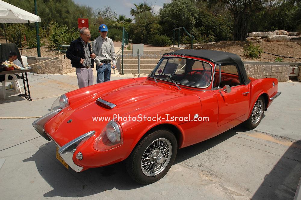 vintage car, Tel Aviv fair grounds and convention centre, Israel,