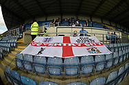 Coventry fans ready for kick off during the EFL Sky Bet League 1 match between Oxford United and Coventry City at the Kassam Stadium, Oxford, England on 9 September 2018.