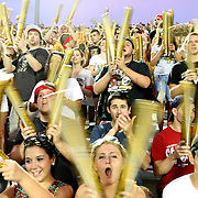 UCF fans cheer during an NCAA football game between the Boston College Eagles and the UCF Knights at Bright House Networks Stadium on Saturday, September 10, 2011 in Orlando, Florida. (AP Photo/Alex Menendez)
