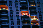 Christmas lights, Honolulu, Hawaii<br />