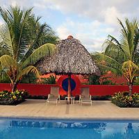 Central America, Costa Rica, Playa Esterillos Este. Main Pool at Alma del Pacifico.