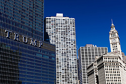 Trump international hotel & tower, (left) and The Wrigley building, (right)