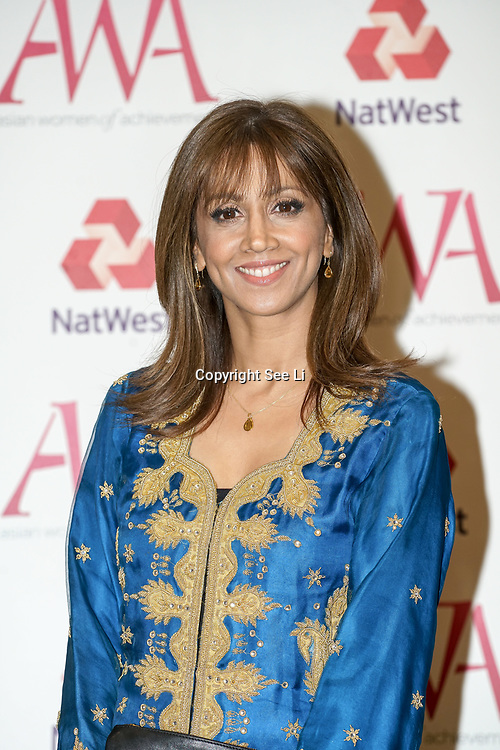 London, UK. 10th May 2017. Riz Latif attends The Asian Women of Achievement Awards 2017 at the London Hilton on Park Lane Hotel. Photo by See li Credit: See Li