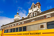 The Taieri Gorge Railway at the Dunedin Railway Station, Dunedin, South Island, New Zealand