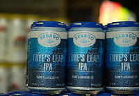 Ice cold beer from Sebago Brewing Co. at the Gunstock Mountain Brew and BBQ Fest Saturday.  Karen Bobotas for the Laconia Daily Sun