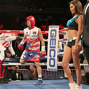 NEW ORLEANS, LA - JULY 14:  Jean Carlos Rivera enters the ring as he fights Angel Luna during the Regis Prograis v Juan Jose Velasco ESPN boxing match at the UNO Lakefront Arena on July 14, 2018 in New Orleans, Louisiana.  (Photo by Alex Menendez/Getty Images) *** Local Caption *** Jean Carlos Rivera; Angel Luna