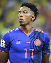 June 25, 2018 - Kazan, Russia - Johan Mojca of Colombia pictured during the 2018 FIFA World Cup Group H match between Poland and Colombia at Kazan Arena in Kazan, Russia on June 24, 2018  (Credit Image: © Andrew Surma/NurPhoto via ZUMA Press)