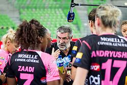 Sandor Rac, head coach of Metz during handball match between RK Krim Mercator (SLO) and  Metz Handball (FRA) in 4th Round of Women's Champions League on November 2, 2013 in Arena Stozice, Ljubljana, Slovenia. (Photo by Vid Ponikvar / Sportida)