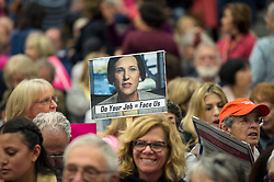May 09, 2017 - Irvine, California, U.S. -  A non-partisan, grassroots coalition of more than 1,000 constituents of Congresswoman Mimi Walters (R - CA) meet at a town hall at Northwood High School to address Representative Walters' positions and votes on key issues including immigration, education, the environment, healthcare and jobs.  Congresswoman Walters declined to attend this and other town halls, stating, ''The whole goal is to try to get me to say something that they could use against me.(Credit Image: © Brian Cahn via ZUMA Wire)