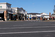 The usually bustling Promenade Shops at Saucon Valley in Upper Saucon Township, Pennsylvania, are empty Mar. 21, 2020, as communities across the Lehigh Valley are adjusting to life during the coronavirus pandemic that is impacting the daily lives of Pennsylvania residents both socially and economically. (Photo by Matt Smith)