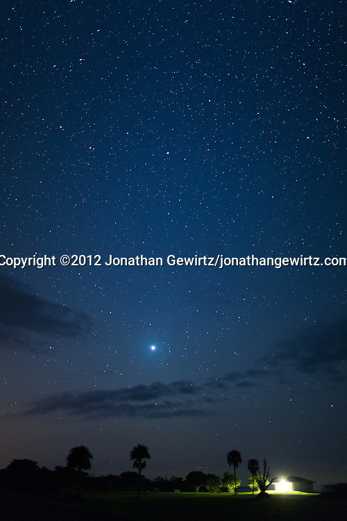 The planet Venus rises in the eastern sky a couple of hours before dawn as seen from the Flamingo section of Everglades National Park, Florida on October 21, 2012. WATERMARKS WILL NOT APPEAR ON PRINTS OR LICENSED IMAGES.