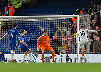 Football - 2017 / 2018 Premier League - Chelsea vs Crystal Palace<br /> <br /> James McArthur (Crystal Palace) tries to reach the cross and turn it towards the Chelsea goal at Stamford Bridge <br /> <br /> COLORSPORT/DANIEL BEARHAM
