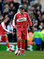Photo: Jed Wee/Sportsbeat Images.<br /> Middlesbrough v Manchester City. The Barclays Premiership. 17/03/2007.<br /> <br /> Middlesbrough's Mark Viduka hangs his head in disappointment after their 2-0 loss.