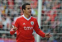20120421: LISBON, PORTUGAL - Portuguese Liga Zon Sagres 2011/2012 - SL Benfica VS Maritimo<br /> In picture: Benfica's Rodrigo Moreno, from Spain, celebrates after scoring their 3rd goal against Maritimo.<br /> PHOTO: Alvaro Isidoro/CITYFILES