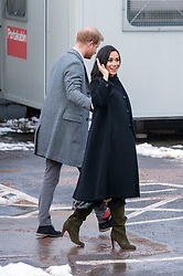 © Licensed to London News Pictures. 01/02/2019. Bristol, UK. The Duke and Duchess of Sussex, HARRY and MEGHAN visit to Empire Fighting Chance boxing club in Easton, Bristol. The Old Vic Theatre in King Street was the first stop on a tour of Bristol today. Built in 1766 as a place where the people of Bristol could come together, Bristol Old Vic is the oldest continuously working theatre in the English speaking world. The Duke and Duchess are to tour the recently renovated facility, finding out more about the theatre's unique history and links to the local community. Their Royal Highnesses will also drop in on a workshop attended by local school children which is part of Bristol Old Vic's outreach programme. The final visit of the day will be to Empire Fighting Chance, which aims to fight the impact of deprivation on young people's lives through boxing. The charity supports children aged 8 to 21 who are failing at school and in danger of drifting into a life of unemployment or even crime, and helps them turn their lives around. Empire Fighting Chance works with around 250-300 children per week and runs programmes which help instil discipline, self control, and respect, whilst building self-confidence, life skills, and improving both physical and mental health and fitness. During their visit Their Royal Highnesses will have the opportunity to meet with young people using the boxing gym, speak to coaches about the positive impact Empire Fighting Chance is having on young people in Bristol and watch a couple of training sessions attended by primary and secondary school pupils. Photo credit: Simon Chapman/LNP