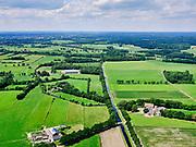 Nederland, Overijssel, Salland, 21–06-2020; Salland, landelijk gebied tussen Deventer en Rijssen. Overijsselsch Kanaal (Zijkanaal Deventer Raalte).<br /> Salland, rural area between Deventer and Rijssen, eastern Holland.<br /> <br /> luchtfoto (toeslag op standaard tarieven);<br /> aerial photo (additional fee required)<br /> copyright © 2020 foto/photo Siebe Swart