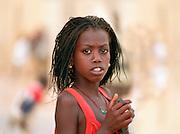 Senegalese Girls with free pen  - Podor Senegal