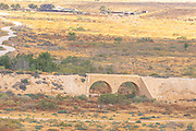 Old Ottoman railway bridge over the mostly dry Beer Sheva stream, Negev Israel