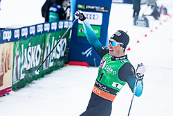 CHANAVAT Lucas (FRA) celebrating the man team sprint race at FIS Cross Country World Cup Planica 2019, on December 1, 2019 at Planica, Slovenia. Photo By Peter Podobnik / Sportida