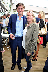 HARRY LOPES and his wife LAURA LOPES daughter of HRH The Duchess of Cornwall at a party to celebrate the publication on 'Let's Eat: Recipes From My Kitchen Notebook' by Tom Parker Bowles held at Selfridge's Rooftop. Selfridge's, Oxford Street, London on 27th June 2012.