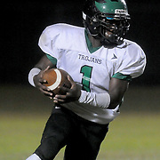 West Brunswick's Sean Hewett rushes against Topsail. (Jason A. Frizzelle)