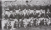 Cork-All-Ireland Hurling Champions 1946. Back Row: A Lotty, J Kelly, C Murphy, G O'Riordan, M O'Riordan, J Lynch, P O'Donovan, T Mulcahy, J Barry. Front Row: C Cotrell, C Murphy, W Murphy, C Ring (capt), P Healy, D J Buckley, J Young.