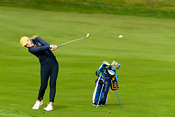 Auchterarder, Scotland, UK. 10 September 2019. Day one of the Junior Solheim Cup 2019 at the Centenary Course at Gleneagles. Tuesday Morning Foursomes. Pictured Annabell Fuller of Europe plays approach shot. Iain Masterton/Alamy Live News
