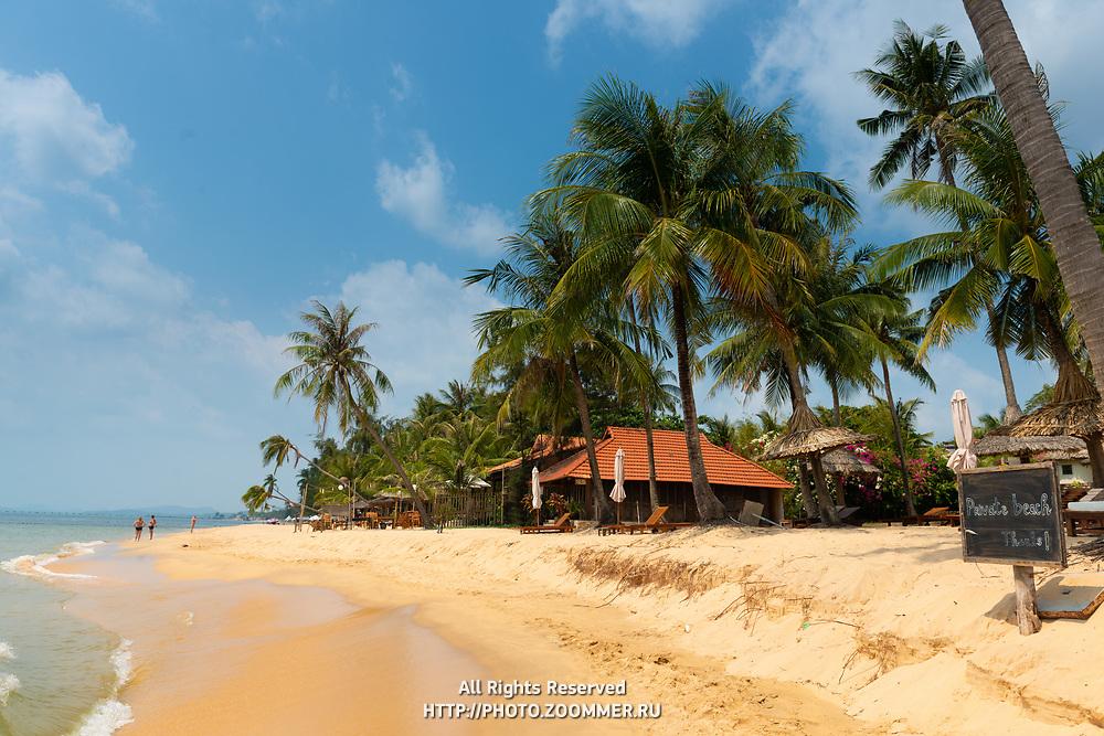 Private beach on Long Beach, Phu Quoc
