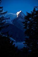 Sunrise view of Mont Blanc from Chamonix, France (Vertical)