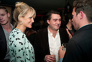 LOUIS WAYMOUTH; LADY ELOISE ANSON, InStyle's Best Of British Talent Party in association with Lancome. Shoreditch HouseLondon. 25 January 2011, -DO NOT ARCHIVE-© Copyright Photograph by Dafydd Jones. 248 Clapham Rd. London SW9 0PZ. Tel 0207 820 0771. www.dafjones.com.