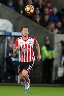 Maya Yoshida of Southampton in action. Premier league match, Swansea city v Southampton at the Liberty Stadium in Swansea, South Wales on Tuesday 31st January 2017.<br /> pic by  Andrew Orchard, Andrew Orchard sports photography.