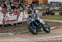 AMA flattracker (no. 95) JD Beach on his Yamaha MT-07 racer in the AMA Flat track racing at the Sturgis Buffalo Chip during the Sturgis Black Hills Motorcycle Rally. Sturgis, SD, USA. Sunday, August 4, 2019. Photography ©2019 Michael Lichter.