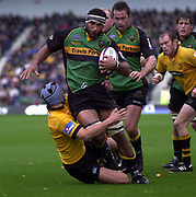 Northampton, Northamptonshire, 2nd October 2004 Northampton Saints vs London Wasps, Zurich Premiership Rugby, Franklyn Gardens, [Mandatory Credit: Peter Spurrier/Intersport Images],<br /> Andrew Blowers