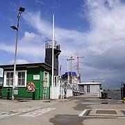 Dock and warehouse in Hamburg port