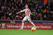 Philipp Wollscheid of Stoke city in action. Barclays Premier league match, Stoke city v Crystal Palace at the Britannia Stadium in Stoke on Trent, Staffs on Saturday 19th December 2015.<br /> pic by Andrew Orchard, Andrew Orchard sports photography.