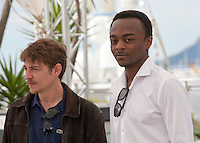 Actors Vincent Rottiers and Marc Zinga, at the Dheepan film photo call at the 68th Cannes Film Festival Thursday May 21st 2015, Cannes, France.