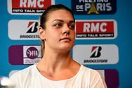 Sandra Perkovic (CRO) during press conference of Meeting de Paris 2018, Diamond League, at Hotel Marriott, in Paris, France, on June 29, 2018 - Photo Jean-Marie Hervio / KMSP / ProSportsImages / DPPI