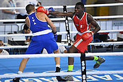 Bengoro Bamba (FRA) competes on Men's 75 kg boxing during the Jeux Mediterraneens 2018, in Tarragona, Spain, Day 8, on June 29, 2018 - Photo Stephane Kempinaire / KMSP / ProSportsImages / DPPI