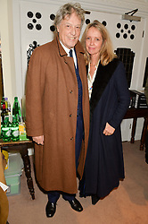 SIR & LADY TOM STOPPARD at the charity Child Bereavement UK's 21st Anniversary Christmas Carol Concert held at Holy Trinity Brompton, London on 10th December 2015.
